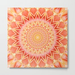 Mandala spiritual strength Metal Print