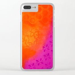 From orange to purple Clear iPhone Case