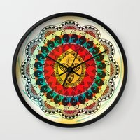 mandala Wall Clocks featuring Mandala by famenxt