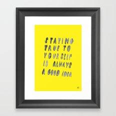 TRUE Framed Art Print