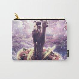 Space Pug Riding Alpaca Unicorn - Pizza & Taco Carry-All Pouch