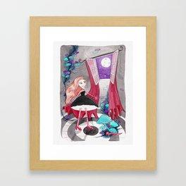 Noche en la torre Framed Art Print