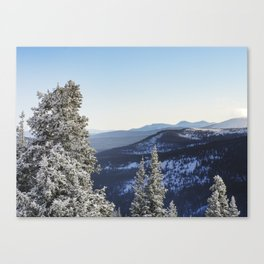 Straight Up Mountain Top Canvas Print