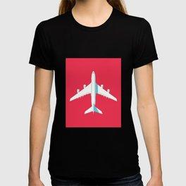 A380 Super Jumbo Jet Airliner - Crimson T-shirt