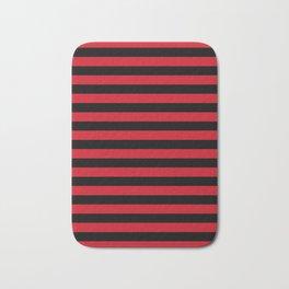 Albania flag stripes Bath Mat