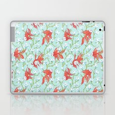 Goldfish, Mask and Magnolia Pattern Laptop & iPad Skin