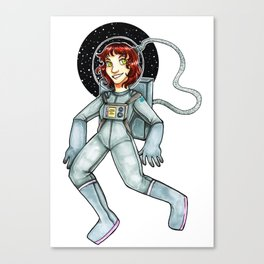 Space Gal- Out of this World Canvas Print