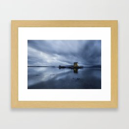 Scotland Dusk at Castle Stalker Framed Art Print