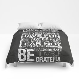 Our Family Rules Comforters