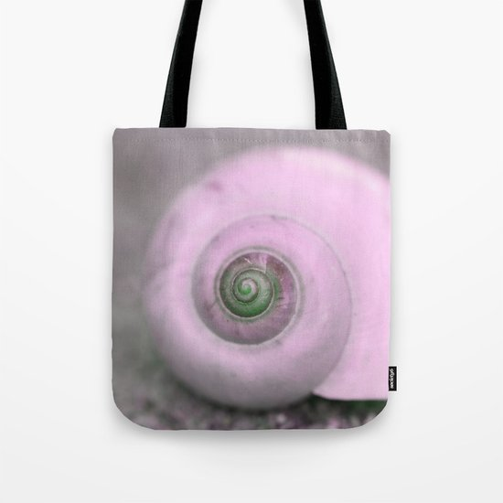 Dream of last summer III - Snail shell in pink on #Society6 Tote Bag