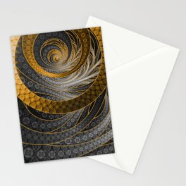 Banded Dragon Scales of Black, Gold, and Yellow Stationery Cards