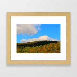 Foliage on Lake Eligo in Hardwick, VT Framed Art Print