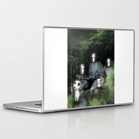 kodama Laptop & iPad Skins featuring Forest Spirits (Kodama)   by pkarnold + The Cult Print Shop