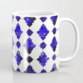 (N1) Royal Blue Traditional Moroccan Arabic Geometric Artwork Coffee Mug