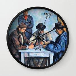Paul Cezanne - The Card Players, Kartenspieler - Digital Remastered Edition Wall Clock