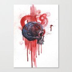Bloody Skull Canvas Print