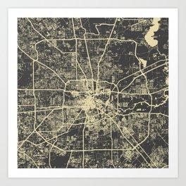 Houston Yellow Art Print