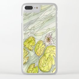 Stonebridge Water Lily 1 Clear iPhone Case