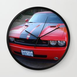 Torred Hemi Challenger RT color photograph / photography / poster Wall Clock