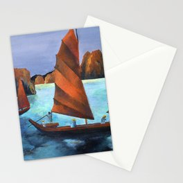 Junks In the Descending Dragon Bay Stationery Cards