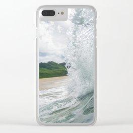 Hawaiian Shorebreak Clear iPhone Case
