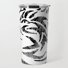 Black and White Cat Travel Mug