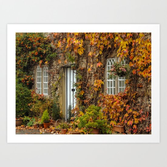 Alport Village Cottage Art Print