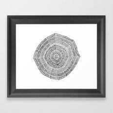 Vacancy Zine Mandala I B&W Framed Art Print