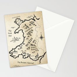 Map Of Wales - English Stationery Cards