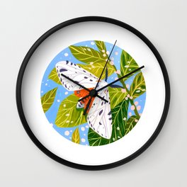 Spring Moth Wall Clock