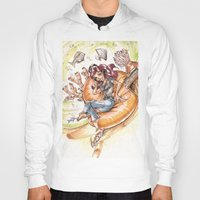 led zeppelin Hoodies featuring The Little Mermaid Ariel Turntable Led Zepellin 70s Art by AnthonyHelmer