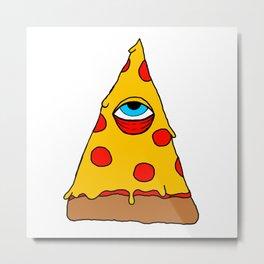 Illuminati Pizza - Swag Pepperoni Confirmed Metal Print