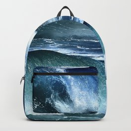Deep Blue Waves Backpack