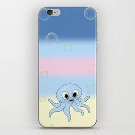 Baby Blue Octopus iPhone Skin