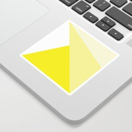 Simple Geometric Triangle Pattern - White on Yellow - Mix & Match with Simplicity of life Sticker
