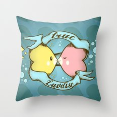 True Luvdisc Throw Pillow