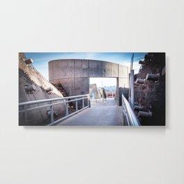 Tillman in Concrete Metal Print