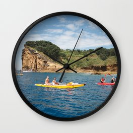 Kayaking in Azores Wall Clock