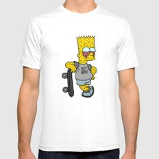 MELTING BART SMALL Mens Fitted Tee White