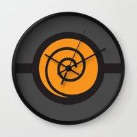 naruto Wall Clocks featuring Naruto Suit by bivisual