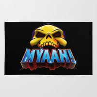 skeletor Area & Throw Rugs featuring MYAAH! by Aaron Synaptyx Fimister