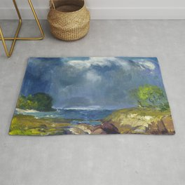 "George Wesley Bellows ""The Coming Storm"" Rug"