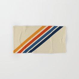 Retro 70s Stripe Colorful Rainbow Tan Classic Vintage Hand & Bath Towel