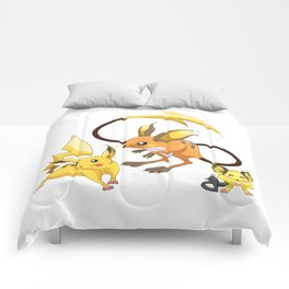 Electric Mouse Evolution Comforters
