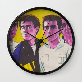 Pink Wire Wall Clock