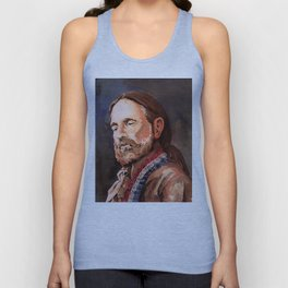 Willie Nelson Acrylic Painting Unisex Tank Top