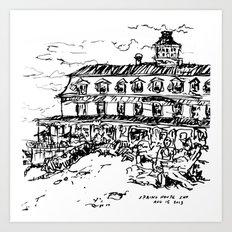 Spring House Inn, Block Island Art Print