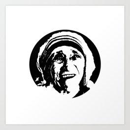 Mother Teresa Portrait Art Print