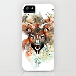 Deer- color brown iPhone Case