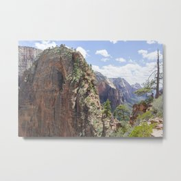 Angels Landing at Zion National Park Metal Print